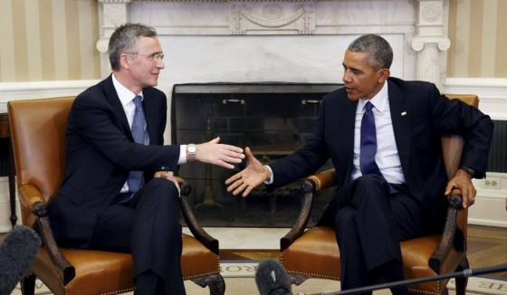 U.S. President Barack Obama meets with NATO Secretary-General Jens Stoltenberg at the White House in Washington
